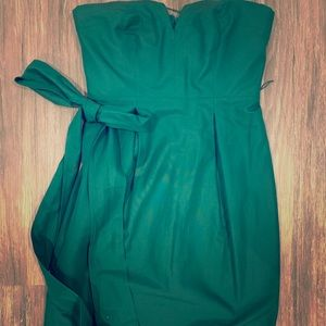 J Crew strapless green dress